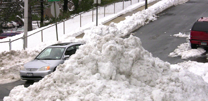 Snow pile in Tarrytown