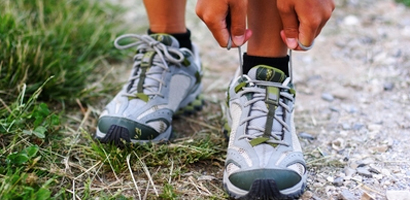 It's that time. Lace 'em up and get outdoors!