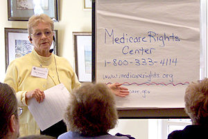 Flo Brodley, a Medicare Rights Center volunteer, discusses choosing the right Medicare health plan.