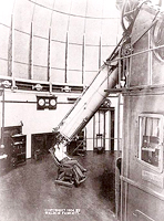26-inch Warner & Swasey refractor, U.S. Naval Observatory, 1904. Warner & Swasey name is visible on plate attached to telescope mount at lower right.