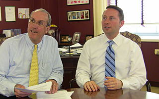 Westchester County Executive Rob Astorino and Deputy County Executive and COO, Kevin Plunkett