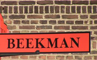 Beekman Avenue street sign