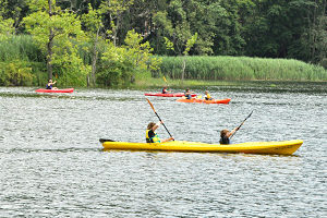 Kayak test drives, part of the fun at Aug. 7 River Day