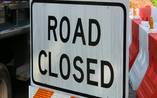 Road Closed in Briarcliff