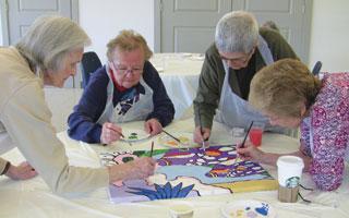 Irvington Seniors and Sunnyside Federal Paint Fest