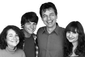 Emma Flihan with parents