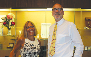 Michael Evans and Jill Rosker of Holston Jewelers