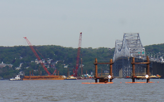 construction on Tappan Zee Bridge