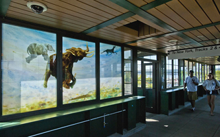 Tarrytown Metro North reconstruction elephant mural on south overpass