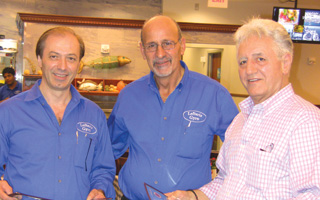 Chris Grammatas, George & Louie of Lefteris Gyro