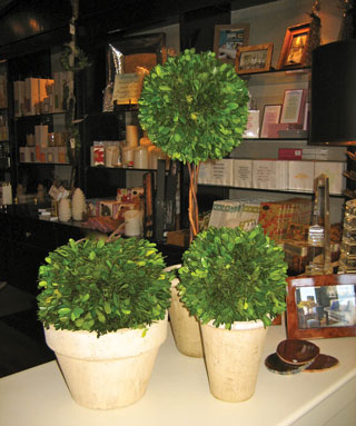 Green Topiaries make beautiful gifts that work in contemporary or traditional interiors. Find a realistic faux one for the not-so-green-thumbed friend, and he can enjoy it for years to come.