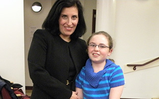 Acting Justice Laurie I. Sullivan with daughter Katie