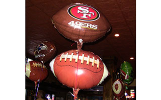 football team balloons