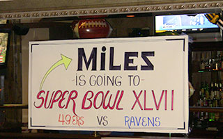 Miles Banks is going to the Super Bowl