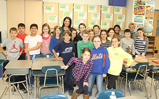 Joanne Buccini & Nadine McDermott with Todd Elementary School 5th grade
