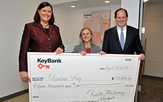 (L to R) Ruth Mahoney, President, Hudson Valley/Metro NY District, KeyBank, Carlene Gentilesco, Chief Operating Officer, United Way of Westchester and Putnam, Hugh Donlon, President, Northeast Region, KeyBank