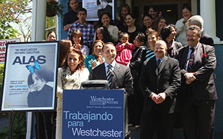 County Exec Robert Astorino with Westchester Hispanic Coaltion