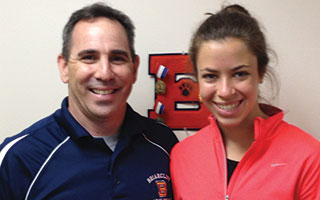 Briarcliff Manor High School Principal James Kaishian and senior Madeline Zimmerman.