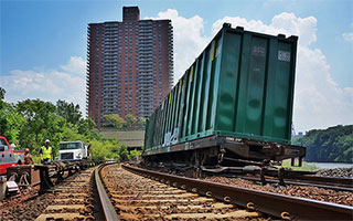 MTA freight derailment recovery efforts