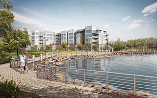 A rendering of Rivers Edge to be built in Sleepy Hollow.