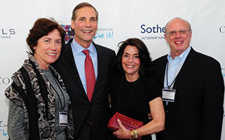 From left: Louise Perillo, Agent at  Hudson Homes Sotheby's International Realty, Philip White, president and  chief executive officer, Sotheby's  International Realty Affiliates LLC, Patty Neuwirth, Owner/ Broker at  Hudson Homes Sotheby's International Realty, Doug Benson, Agent at Hudson Homes Sotheby's International Realty,