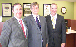 Left to right: Desmond Lyons, Tim Sullivan and Brian Smith.