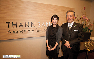 L  – R: Pla Ratanakul – International Marketing Manager - THANN ,  Mr. Jiro Sato, President Sankara Hospitality.