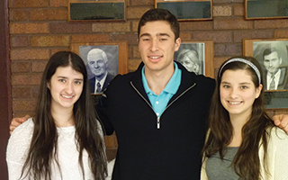 (L-R) BHS Class of 2014 Valedictorian Caterina Florissi, with  Co-Salutatorians Eric Wasserman and Isabella Florissi.