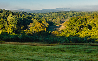 Property recently protected by Scenic Hudson in New Baltimore, Greene County, conserves scenic meadows and woodlands in foreground of magnificent Catskill Mountain views. (photo: Robert Rodriguez, Jr. / Scenic Hudson)