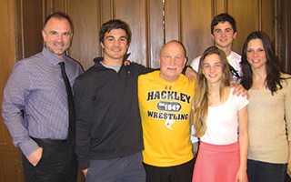 L to R: George, Damis, Coach Marchesi, Demetria, Luká and Karen Yancopoulos.