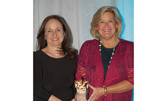 From L to R: Diane Rosenthal, executive director of NFTE Fairchester and Ellen Lynch, executive director of Food Bank for Westchester.