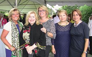 Left to right: Phyllis Lerner,  Mary Case Friedner, Karen Stroub,  Elvira Aloia and Marcene Hedayati.