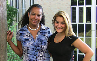 EF Host Family Coordinators L. to R. Maria Phillips and Nadia Gomez