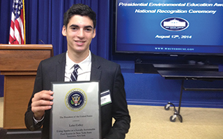 2014 Sleepy Hollow Graduate Luke Colley at the White House.
