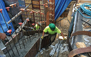 Retaining Wall Pour
