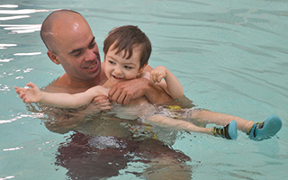 Master Water Safety Instructor  Marc Quintiliani  and a young student