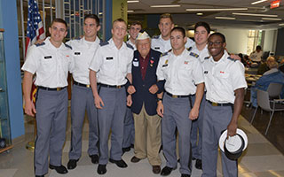 WWII Veteran, Chick Galella with cadets