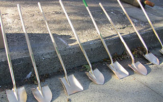 Golden shovels —  spray painted of course