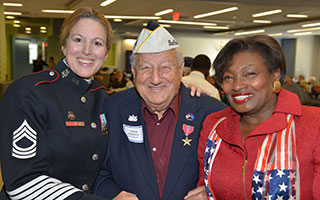 Chick with Master Sgt. MaryKay Messenger and State Senator Andrea Stewart-Cousins
