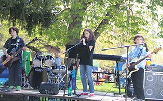 The Underage Band at Christ Church's Fall Fair