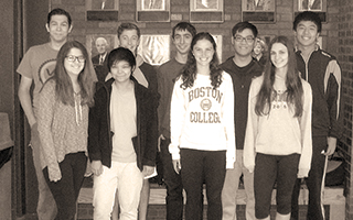Briarcliff's National Merit Semifinalists (left to right):   Russell Francis, Hana Grace Lee-Niosi, Adele Fu,  Matthew Bombassei, Daniel Bramson, Grace Orr,  Allen He, Sloane Bashford, and Austin Li.