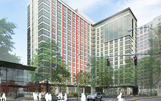 Photo: Rendering of LCOR Inc.'s 55 Bank Street project, looking north.
