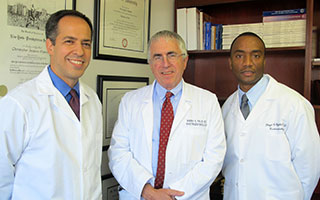 From left to right: Drs. Christopher Martin, Barry Field and Floyd Byfield of Phelps Medical Associates-Gastroenterology. The medical practice recently  achieved-accreditation by the Accreditation Association for Ambulatory  Health Care (AAAHC).