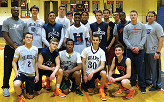 Briarcliff High School's boys varsity basketball team preparesd for its Feb. 25 matchup against Irvington High School in the Section I Class B semifinal.