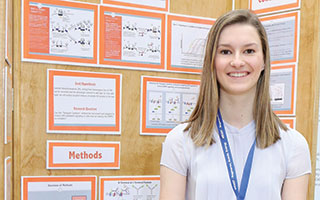 Senior Elizabeth Sobolik won first place in her category at this year's Westchester Science and Engineering Fair.
