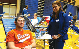 Briarcliff High School's National Honor Society sponsored its annual blood drive for the New York Blood Center on Feb. 13.