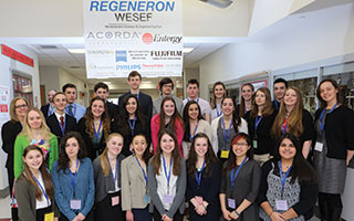 Sleepy Hollow High School's award-winning team at the  Westchester Science and Engineering Fair.