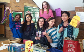 Irvington Middle School French Club students celebrated National French Week by engaging the school community in a number of cultural activities, which helped raise $5,000 for Doctors Without Borders.  Photo courtesy of the Irvington Union Free School District