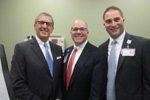 Richard Sinni, Chair, Phelps Board of Directors; Daniel Blum, Phelps President & CEO; and Adam Boll, Vice President, Strategic Ventures/Ambulatory Services at Northwell Health.