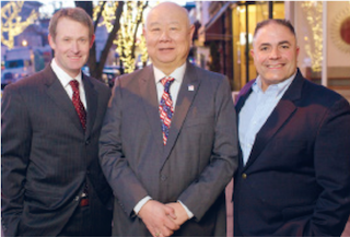 From left to right: Terence Murphy, John P. Chang, Domenic Morabito Jr.